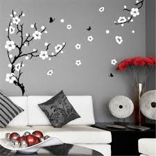 j4 plum blossom tree wall stickers vinyl art decals professionally made with no white outer edges borders in wall stickers from home garden on  on wall art decals borders with j4 plum blossom tree wall stickers vinyl art decals professionally