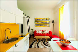 interior decorating small homes. White Cabinets And Yellow Wall Frame Small House Interior Decoratioin Multifunctional Also Decorating Homes .