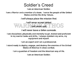 Ppt Soldiers Creed Powerpoint Presentation Id6699266