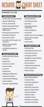 Good Resume Verbs Custom Resume Interview Cheat Sheet Resume Tips