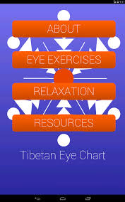 Tibetan Eye Chart Exercises Tibetan Eye Chart