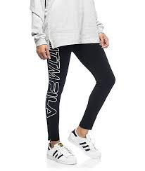 fila leggings. married to the mob x fila racer black leggings