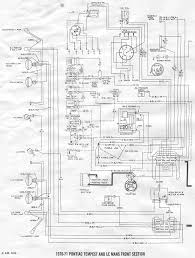 Front section wiring diagram of 1970 1971 pontiac tempest le mans