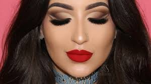 brown eyes red lips full face makeup tutorial melissa samways