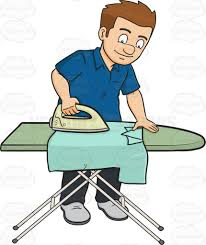 ironing clothes clipart. Wonderful Clothes A Man Ironing A Shirt To Ironing Clothes Clipart L