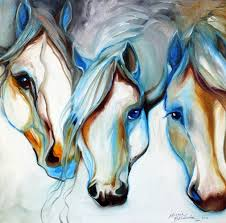 wild horses in abstract by marcia baldwin