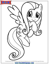 Small Picture Friendship Is Magic Fluttershy Coloring Page H M Coloring Pages