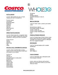 Shopping List The Only Whole24 Costco Shopping List You'll Ever Need PaleoScaleo 20