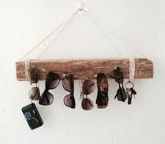 rustic diy key sungl holder