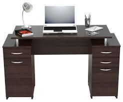 inval computer desk with 4 drawers espresso wengue contemporary desks and