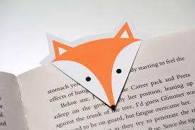 diy fox bookmarks