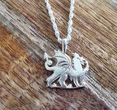 welsh dragon necklace