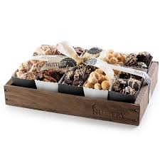 gourmet chocolate nut gift tray with individual party cups small size tray