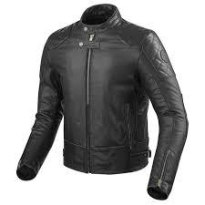 revit lane leather jacket black front