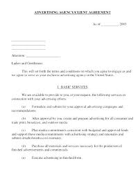 Advertising Contract Template Free – Francistan Template