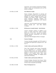 chronological geologist resume example page5 drafting resume