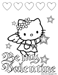 Small Picture hello kitty hearts and stars valentines Coloring pages Printable