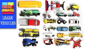 toy cars and trucks. Learning Street Vehicles Names For Kids With Stop Motion | Cars And Trucks - YouTube Toy U