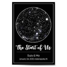 Birthday Sky Chart Custom Personalized Star Constellation Map With Frame Option Star Chart Choose Your Font Custom Engagement Anniversary Birthday Baby Gift Night