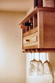 Custom Made Wall Hanging Wine Rack / Bookshelf