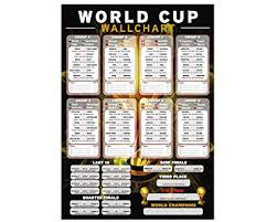 Russia 2018 Tournament Wallchart Portrait Wall Chart To Record All The Results