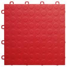 12 x12 interlocking garage flooring tiles coin top sample red contemporary vinyl flooring by blocktile