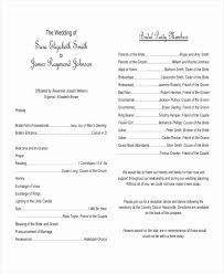 Wedding Ceremony Program Template Lovely Free Wedding Program