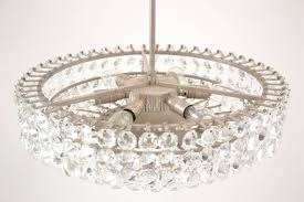mid century modern brass nickel plated bakalowits vienna faceted crystal chandelier 1950s