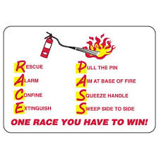 Race Codes Chart P A S S R A C E Fire Extinguisher Sign