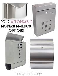 modern mailbox etsy. Perfect Mailbox Four Affordable Modern And Mid Century Mailbox Options Stainless  Steel Mailboxes  Sew On Modern Mailbox Etsy B