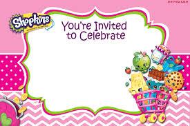 Invitation Templete FREEBlankPrintableShopkinsInvitationTemplate Drevio 4