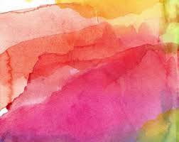 abstract watercolor paint and supplies
