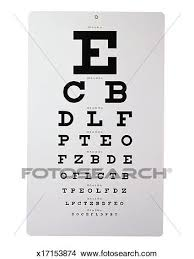 Eye Chart Picture X17153874 Fotosearch