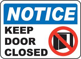 please lock door sign. Lock Door Sign Please