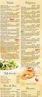 menu for sarpino s pizza