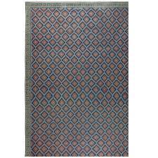 oversized vintage indian dhurrie rug for