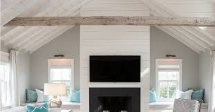 shiplap ceiling accent wall