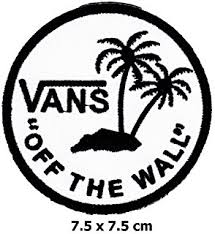 vans logo. vans off the wall patch iron on logo vest jacket cap hoodie backpack vans