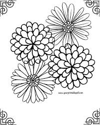 Small Picture Relaxing Framed Flower Adult Coloring Page