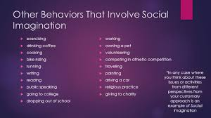sociological perspective social imagination jose carrasco 8 other behaviors that involve social imagination