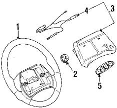 parts com® pontiac sunfire steering wheel trim oem parts 2002 pontiac sunfire gt l4 2 4 liter gas steering wheel trim