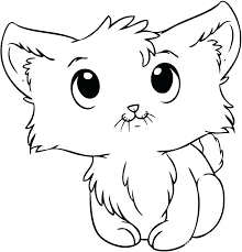 Cute Kitten Coloring Pages Free Printable At Free Printable Kitten