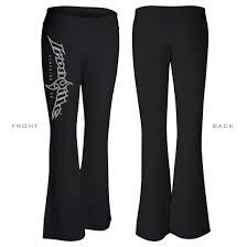 Pants Logos Ironville Womens Weightlifting Yoga Pants Vertical Logo