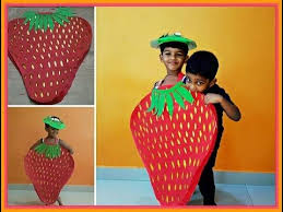 How To Make Strawberry Fancy Dress At Home Strawberry