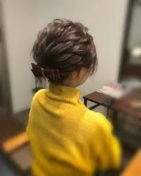 平原さんのヘアスタイル ショートアレンジ宮崎 Tredina