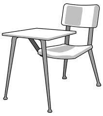 student desk clipart black and white. magnificent chair and desk clipart clipartfox student black white t