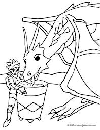 Coloriage Chevaliers Et Dragons Dragon Et Princesse Dessincoloriage