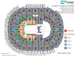 San Francisco Cirque Du Soleil Seating Chart Cirque Du Soleil Crystal Sap Center
