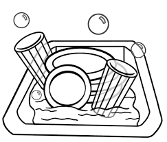 dishwasher clipart black and white. dishwasher clipart black and white e