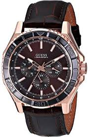 17 best images about guess men s watches sporty guess mens sporty classic rose gold tone brown multi function watch quartz movement case diameter water resistant to 330 feet day date